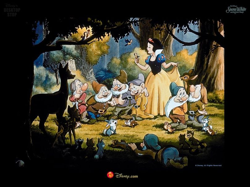 Snow White and all of her new found friends