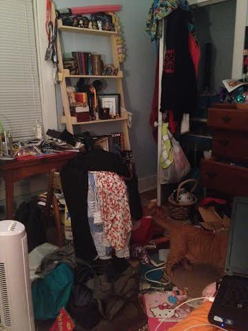 Some of the stress might be coming from the fact that my room currently looks like a bomb went off.