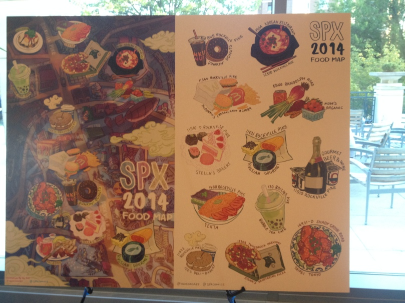 Plus look at this rad food map that Yao Xiao did to help patrons find tasty food!