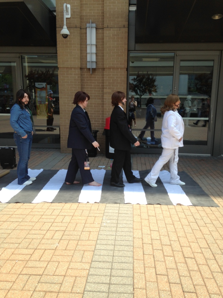 These Beatles cosplayers were so great.