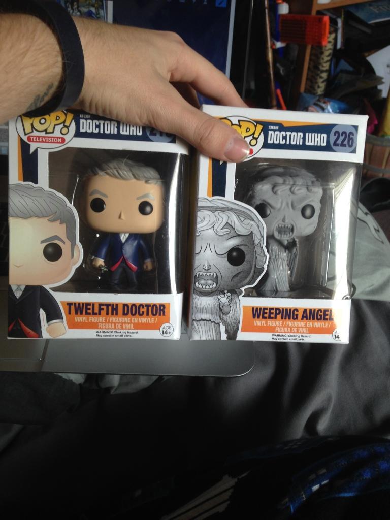 Twelfth Doctor and Weeping Angel Pop