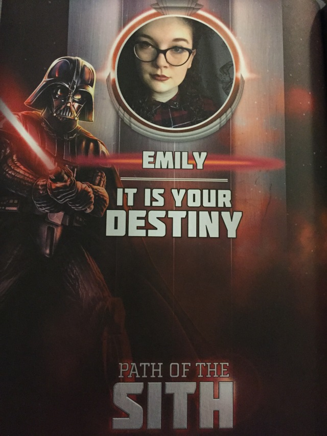 It really is my destiny, Darth Vader.