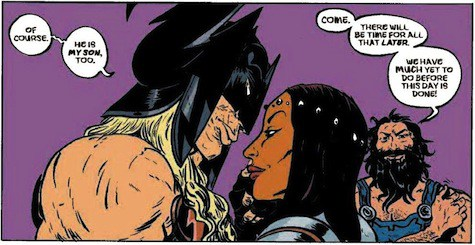 The Asgardian style parents of Battling Boy.
