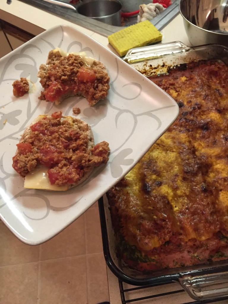 Sloppy Joes and Spinach Lasagna!
