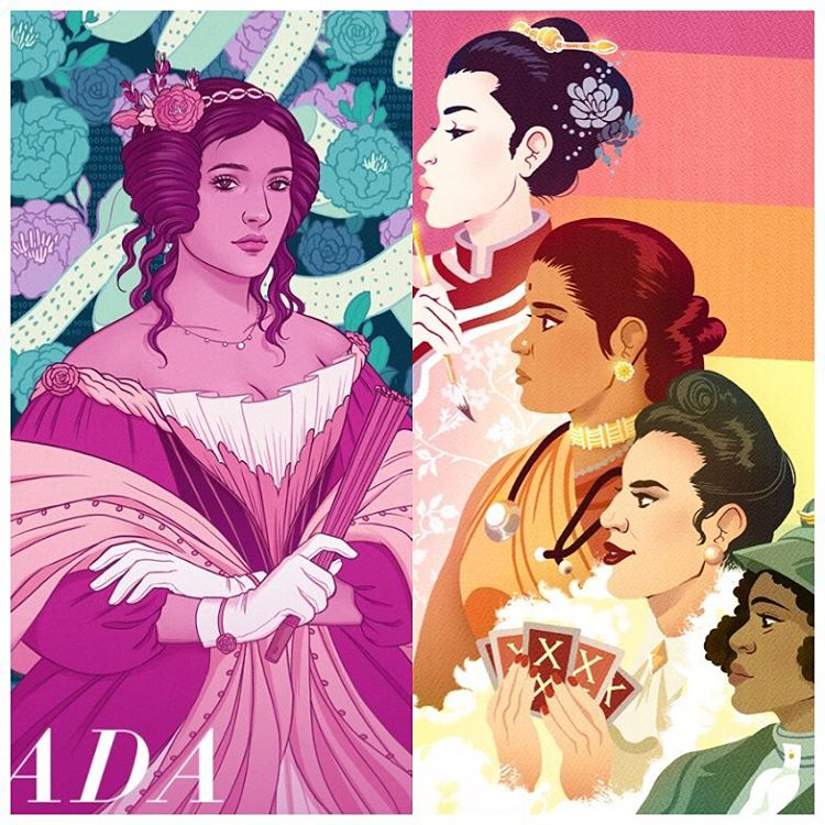 A little preview of the designs by Jen Bartel & Paulina Ganucheau