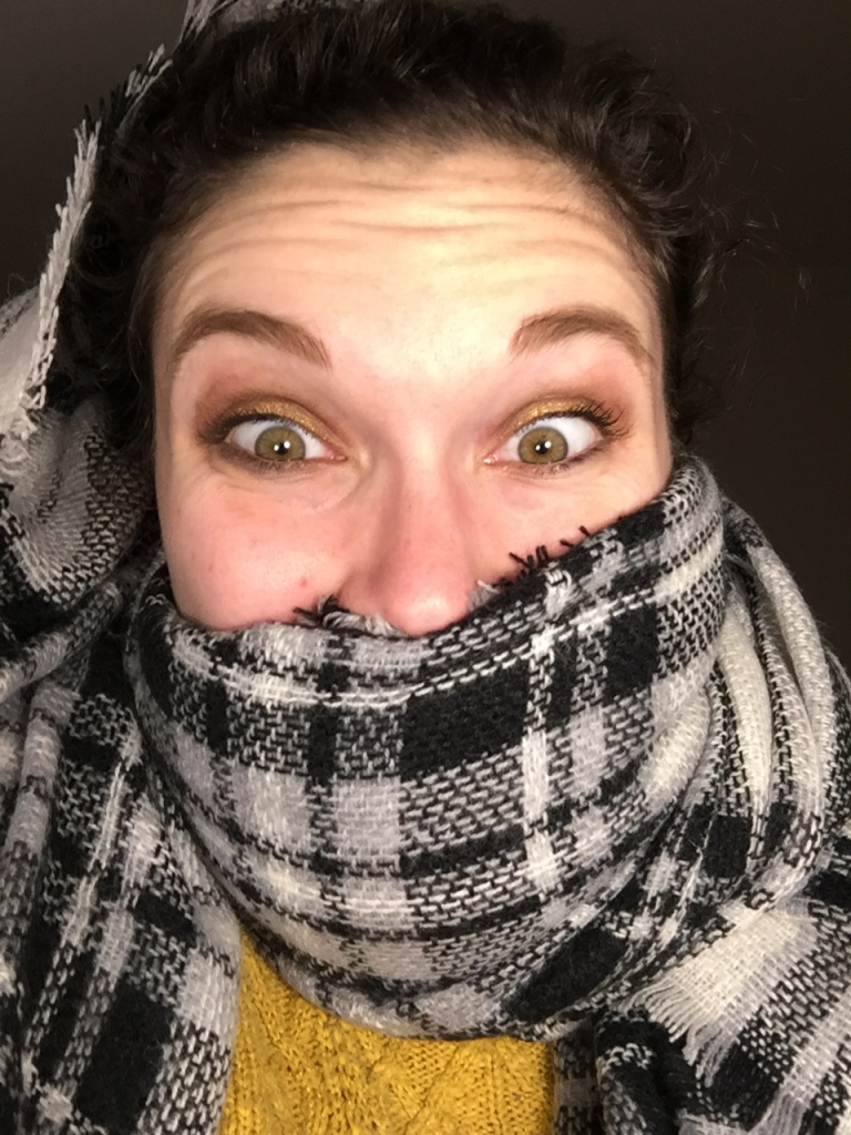 Look at how happy this scarf makes me!