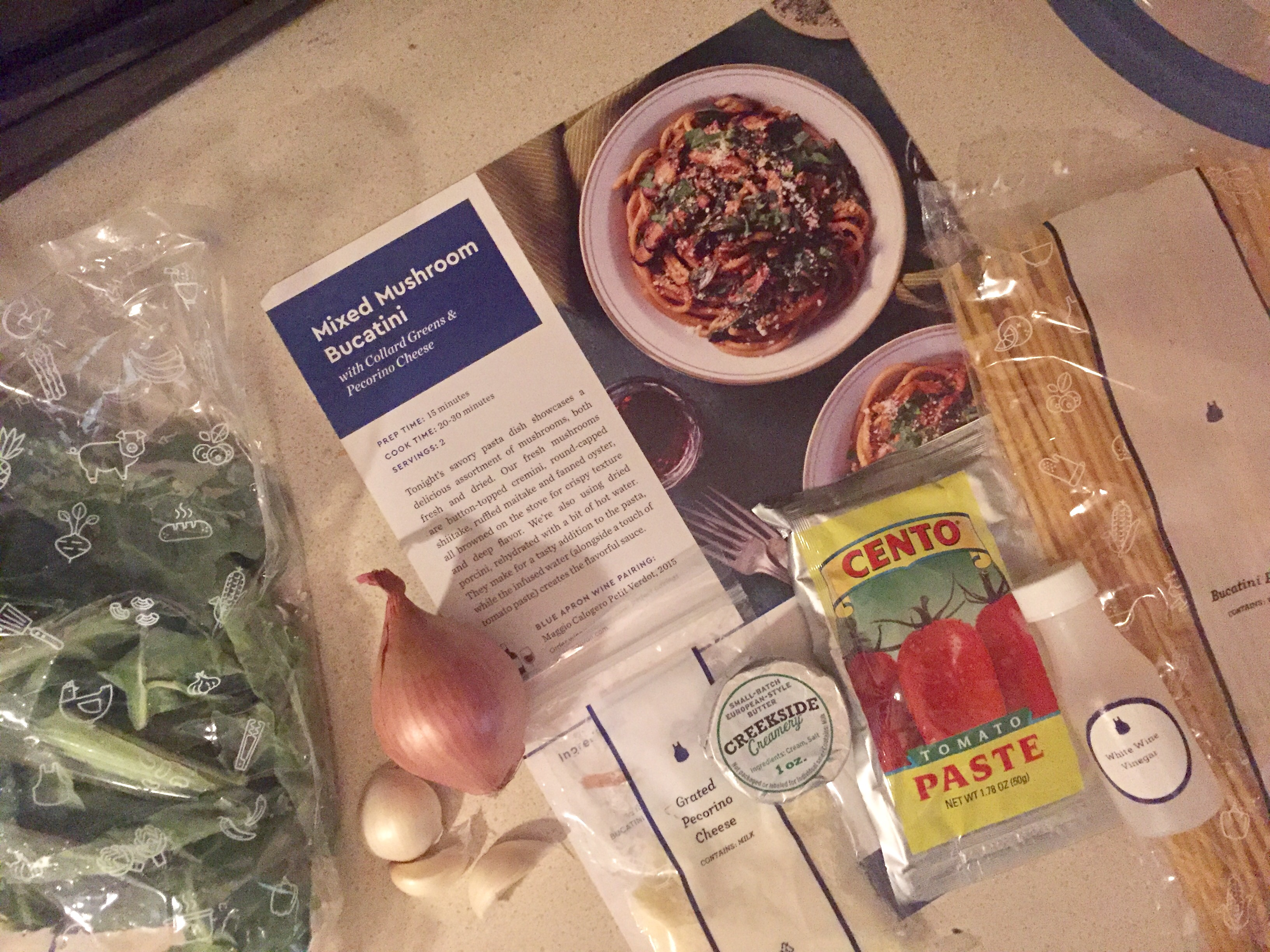 Blue apron bucatini - First Of All I Hate Mushrooms They Are Gross And Weird And I Am Stubborn About That The Boyfriend Feels The Same Way And I Thought If I Made It With
